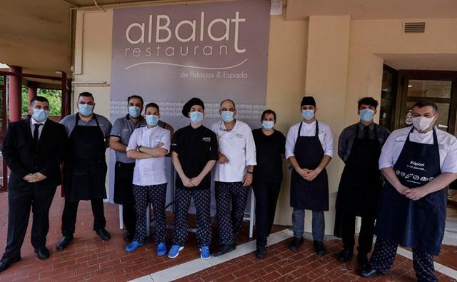 La plantilla del Restaurante Albalat, sin covid